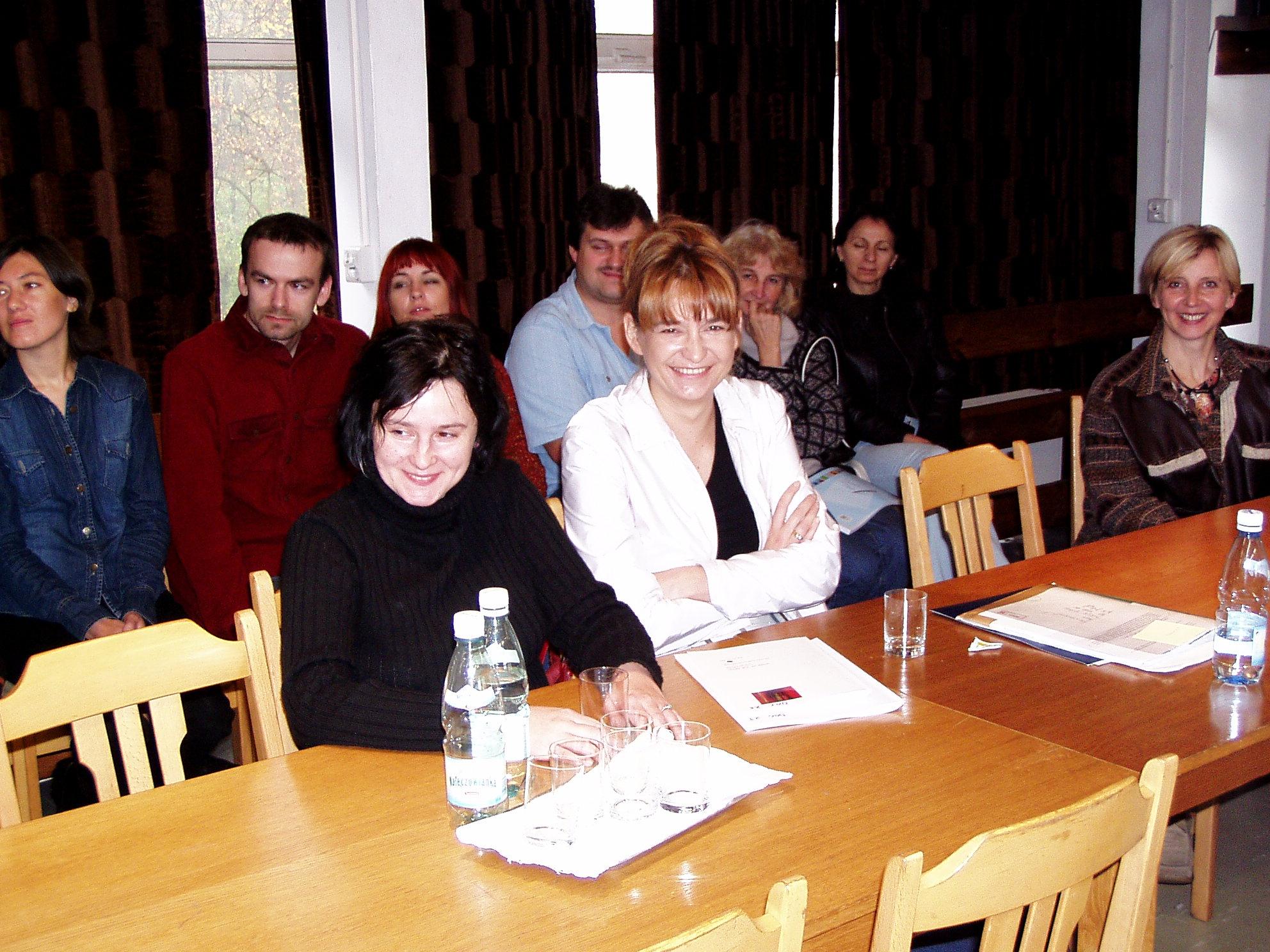 od lewej:Magdalena Skawińska i ja na seminarium w Kazimierzu